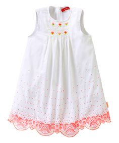 Look at this White & Red Cambric Dette Dress - Girls on #zulily today!