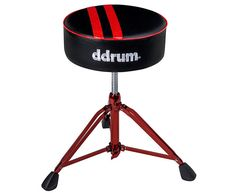ddrum Mercury Fat Throne With Red Base & Stripes.