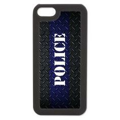 Police Diamond Plate iPhone 5/5S Switch Case > Police Diamond Plate Thin Blue Line - Click To Ent > The Art Studio by Mark Moore