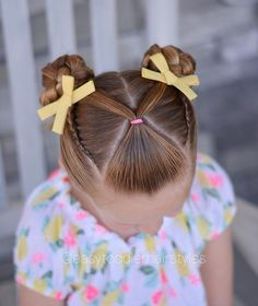 Front V ponytail, lace Dutch braids and braided buns. This style was inspired by Her account is one of my… - - Front V ponytail, lace Dutch braids and braided buns. This style was inspired by Her account is one of my… - - Girls Hairdos, Cute Little Girl Hairstyles, Cute Girls Hairstyles, Princess Hairstyles, School Picture Hairstyles, Hairstyles Haircuts, Easy Toddler Hairstyles, Kids Braided Hairstyles, Toddler Hair Dos