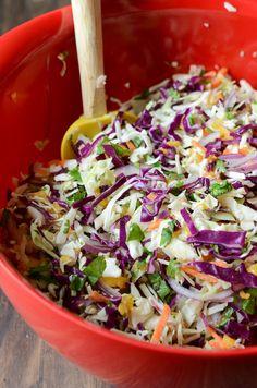 Spicy Mango Slaw by @The Novice Chef Blog {Jessica}