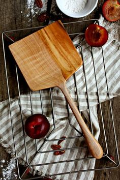 the world's best cookie spatula - large baking spatula – Old World Kitchen Diy Wood Projects, Wood Crafts, Worlds Best Cookies, Old World Kitchens, Carved Spoons, Bois Diy, Wooden Spatula, Diy Cutting Board, Wood Spoon