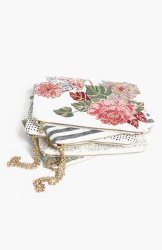 Floral print clutch vintage rose spring fashion