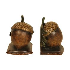 Sterling Industries 91-4960 Pair Muir Woods Acorn Acorn Home Decor Accents Bookends