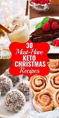 Keto Christmas Recipes The best low carb Christmas recipes for the feast of your dreams! Enjoy the holidays with the best Christmas food on the keto diet! From green beans to sugar cookies and eggnog, friends and families will love these keto Christmas Keto Cookies, Low Sugar Cookies, Keto Holiday, Holiday Recipes, Best Christmas Recipes, Holiday Foods, Homemade Christmas, Ketogenic Recipes, Low Carb Recipes