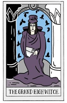 grand high witch - roald dahl tarot