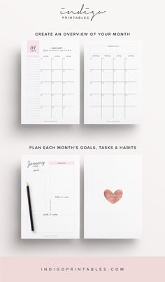 2017 Planner, 192 Printable Pages | Created by #IndigoPrintables