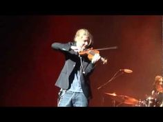 """David Garrett rockin in New York playing Queen's """" We Will Rock You', his encore performance during this tour."""