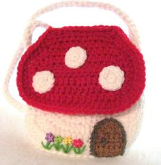 Red Gnome Mushroom Home Purse for For by DesigningImpressions, $20.00