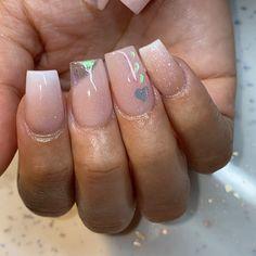 Square Stiletto Nails, Short Square Acrylic Nails, Acrylic Nails Coffin Short, Simple Acrylic Nails, Pink Acrylic Nails, Acrylic Nail Designs, Coffin Nails, Aycrlic Nails, Dope Nails
