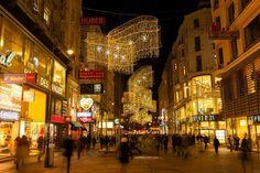 Kärntner Straße Christmas Lights | Innere Stadt, Vienna, Austria | Shopping Street
