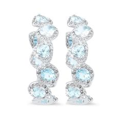 Wow them on #Wednesday! Absolutely #gorgeous #aquamarine and #diamond #earrings by @michaeljohnjewelry! #jewellery #jewelry gold #platinum  #sparkle #gems #humpday