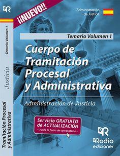 9788416266777 Cuerpo de Tramitación Procesal y Administrativa de la Administración de Justicia. Volumen 1. #empleo #oposiciones #justicia