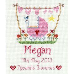 New Baby Girl Cross Stitch Kit