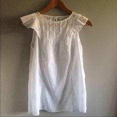 Gap a-line sheer top Excellent condition. Sheer with ruffled shoulders. Adorable! A-line shape. GAP Tops Tank Tops