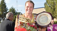 Knapp Breaks wins her first WTA title after a series of health problems over the last several years, TASKHENT 2014.