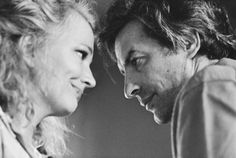 Gena Rowlands and John Cassavetes photographed by Sam Shaw, Los Angeles, 1973 Hollywood Couples, Hollywood Stars, Old Hollywood, Gena Rowlands, John Cassavetes, Film Icon, Film Director, Best Couple, Pop Culture
