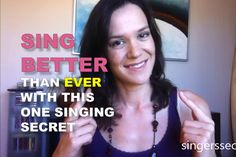 There is one simple thing you can do to sing better than ever, and it has nothing to do with your voice. Professional singer Nicola Milan explains how.