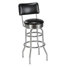 "Regal Swivel Bar Stool Upholstery: Dark Walnut Wood, Seat Height: 30"""