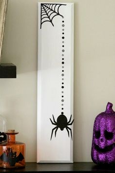 Our Pinteresting Family: Cabinet Door Halloween Craft and Halloween Bottles