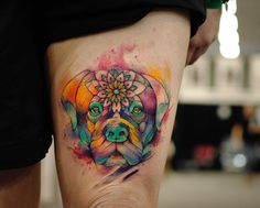 Dog Tattoo art by Alberto Cuerva