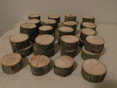 Rustic Wood Wedding Placecard Holders LOVE!