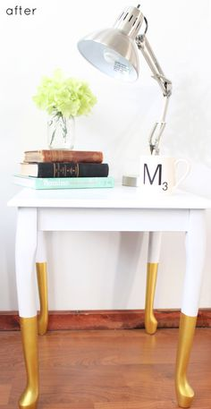 dipped end table