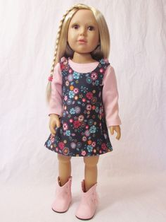"Cute Knit Jumper and Pink T-Shirt Dress for Kidz N Cats Dolls - Slim 18"" Dolls #Unbranded"