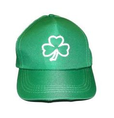efe4be66a00dd St. Patricks Day White Clover Baseball Cap - 338398