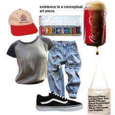 art hoe by baileynavin on Polyvore featuring Louis Vuitton, Levi's, Vans and American Apparel