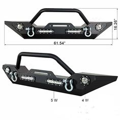 Jeep Wrangler JK Front Bumpers including front bumpers with winch plates, front bumper and D-Rings, front bumpers with LED lights. Jeep Cherokee Accessories, Wrangler Accessories, Jeep Accessories, Jeep Front Bumpers, Jeep Wrangler Bumpers, Winch Bumpers, Wrangler Jk, Patrol Y61, Nissan Patrol