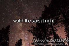 watch the stars at night