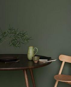 Colour Trend for (ilaria fatone stylisme d'intérieur) Blue Paint Colors, Wall Paint Colors, Bedroom Paint Colors, Colours, Interior House Colors, Interior Design, Chartreuse Decor, Slow Design, Green Home Decor