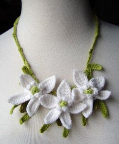 beautiful crocheted necklaces | make handmade, crochet, craft