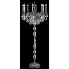 Ancient silver plated 8 light crystal floor lamp Traditional Floor Lamps, Silver Plate, Plating, Chandelier, Bulb, Ceiling Lights, Flooring, Crystals, Home Decor