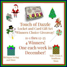 Touch of Dazzle #Locket & Gift Card Set #Giveaway (12/25 US)