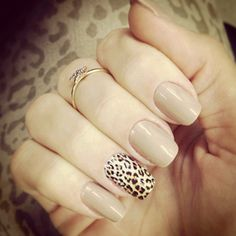 A pop of leopard probably my favorite nail design
