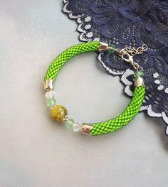 Excited to share the latest addition to my #etsy shop: Light green small seed bead bracelet with Crystal charms On trend gift bff girlfriend Evening jewelry Beadwork women statement bracelet http://etsy.me/2DHL4TU #jewelry #bracelet #bacheloretteparty #women #green #beadworkjewelry #smallbeadbracelet #crystalcharms #giftgirlfriend
