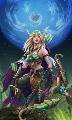 World of Warcraft Art Board ^^ // Blizzard // wow // // Digital // Alleria Windrunner // High Elf World Of Warcraft Game, Warcraft Art, World Of Warcraft Characters, Character Inspiration, Character Art, Mononoke Anime, Blood Elf, War Craft, Night Elf