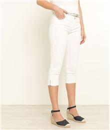 Pantalon femme, chino femme, 7 8ème femme. GDM - Corsaire femme en jean  couleurs. Grain de Malice 146e53b7633