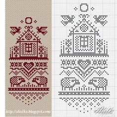 sheep and house red and white chart