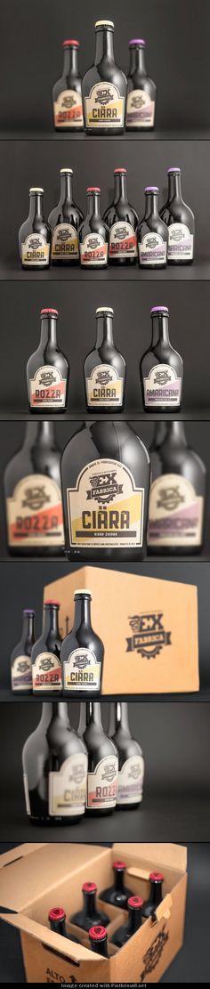 Packaging Design, Ex-Fabrica Beer #packaging #packagingdesign #design http://www.pinterest.com/designeurnet/