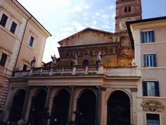 Santa Maria in Trastevere. The oldest Christian church in Rome.