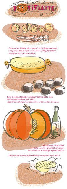 recette tartiflette au potiron