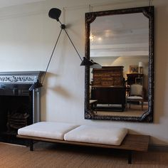 This is my SCALE example. The mirror is very great and large and almost works in the space. But compared to the fire place the mirror is way out of scale.