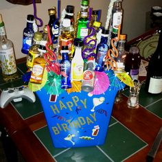 My version of the booze bouquet!! It was lots of fun to make!!!