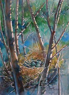 """Springtime Cache"" original fine art by Reveille Kennedy"
