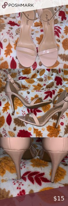 Nude Heels 💋 Gorgeous pair of nude heels, worn once and has small damage on the heel closure as shown on the picture. Other than that, it's perfect. ❤️ Anne Michelle Shoes Heels