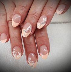 29 unique and beautiful personality nail colors designs 32 Colorful Nail Designs, Fall Nail Designs, Bridal Nails, Wedding Nails, Summer Acrylic Nails, Summer Nails, Acyrlic Nails, Feather Nails, Blue Nails