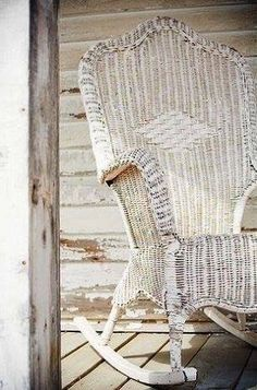 I love a good wicker chair, but this one is amazing